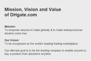 De doelstelling van DHgate.com