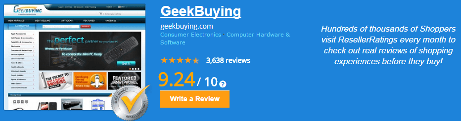 Geekbuying ResellerRatings