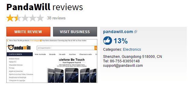 Pandawill Sitejabber