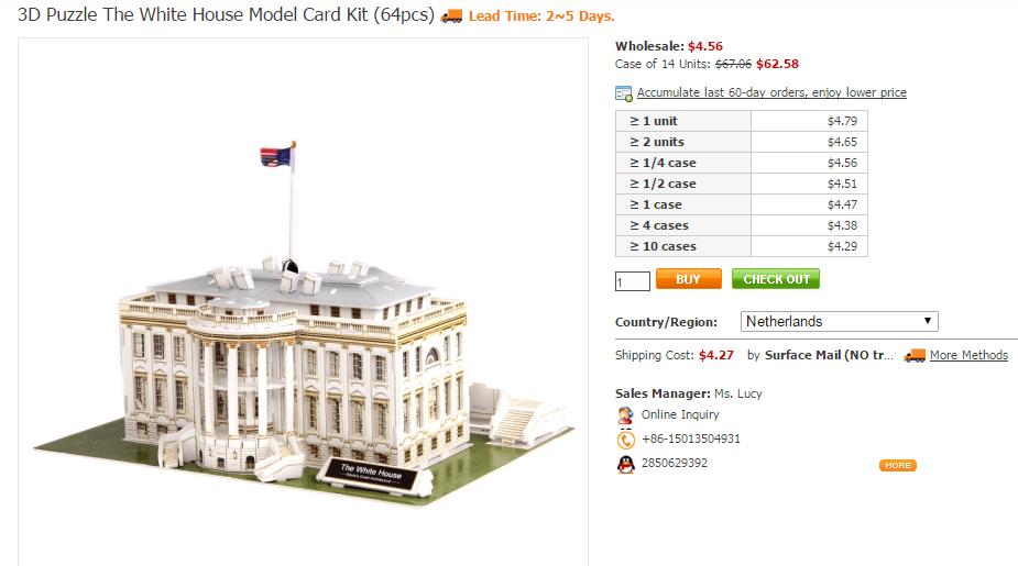 3d-puzzel-witte-huis