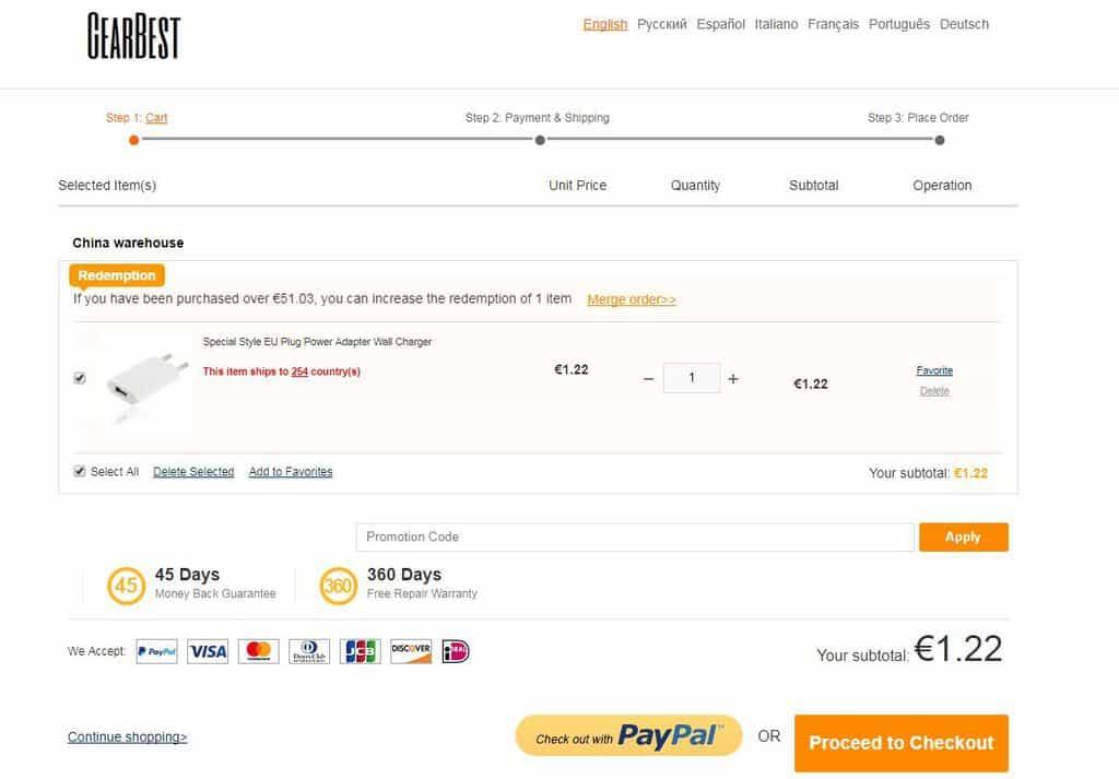 GearBest Bestellen